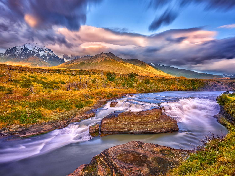 Cascada De Paine, Patagonia, Chile