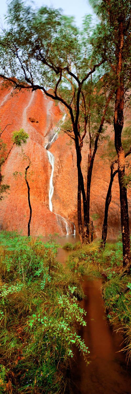 Mutitjulu waterfall and waterhole, Uluru, NT, Australia.