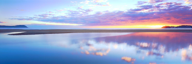 Sunrise over Terrigal lagoon, Central Coast, NSW, Australia.