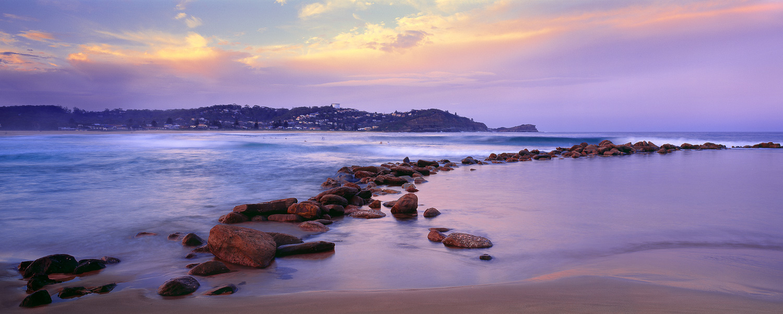 Twilight at Avoca Beach, Central Coast, NSW, Australia.