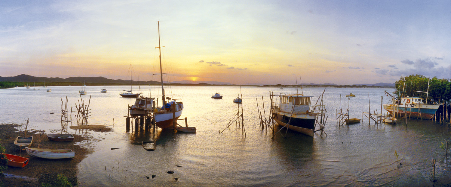Sunset over Cooktown Harbour, Qld, Australia.