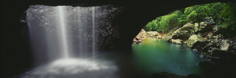 Australia, panoramic, panorama, Queensland, Qld, Gold Coast, hinterland, caves, caverns, daytime, bright, greens