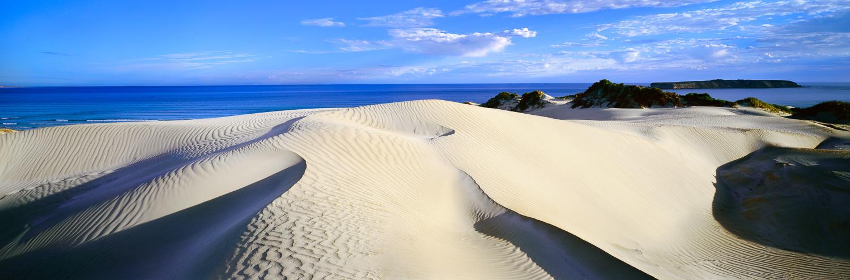 Sand dunes on Gunyah Beach, SA, Australia.
