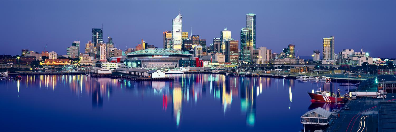 Twilight reflections of Docklands, Melbourne, Australia.