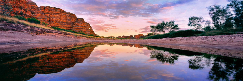 A pastel sunset over Piccaninny Creek, Purnululu National Park, WA, Australia.