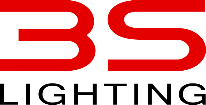 3S Lighting Logo. The 3 and the S are in red, the word lighting is in black