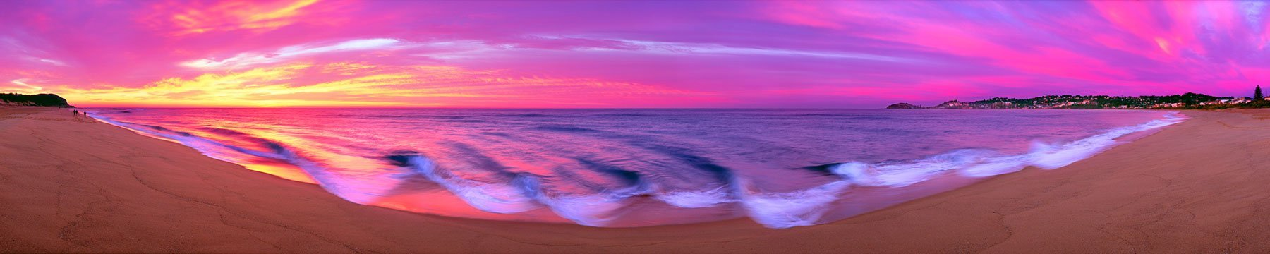 a glorious sunrise at Wamberal Beach, Central Coast, NSW, Australia.