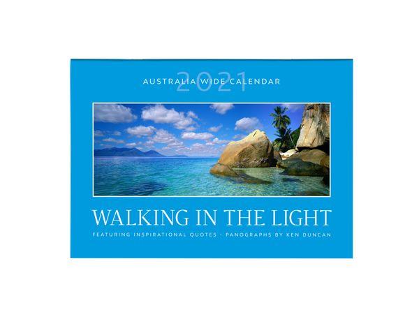 2021 Walking in the Light A4 Calendar