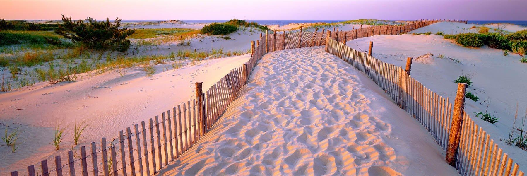 Sunrise at Cape Henlopen, Delaware, USA.