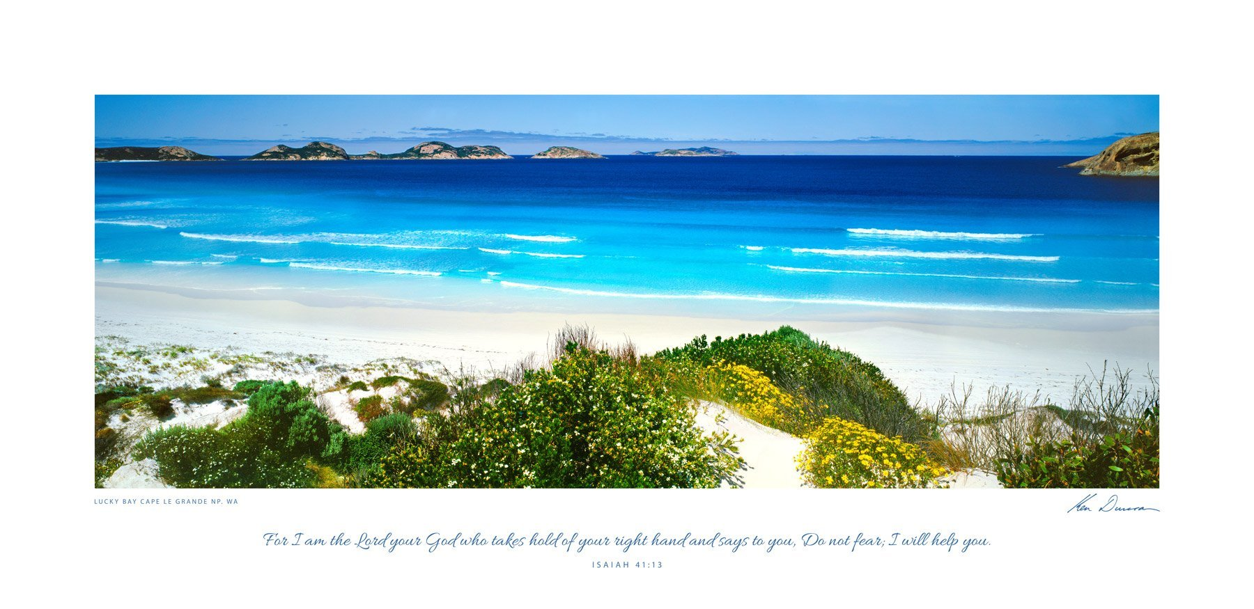 Lucky Bay, Cape Le Grande NP, WA (Bible Verse)