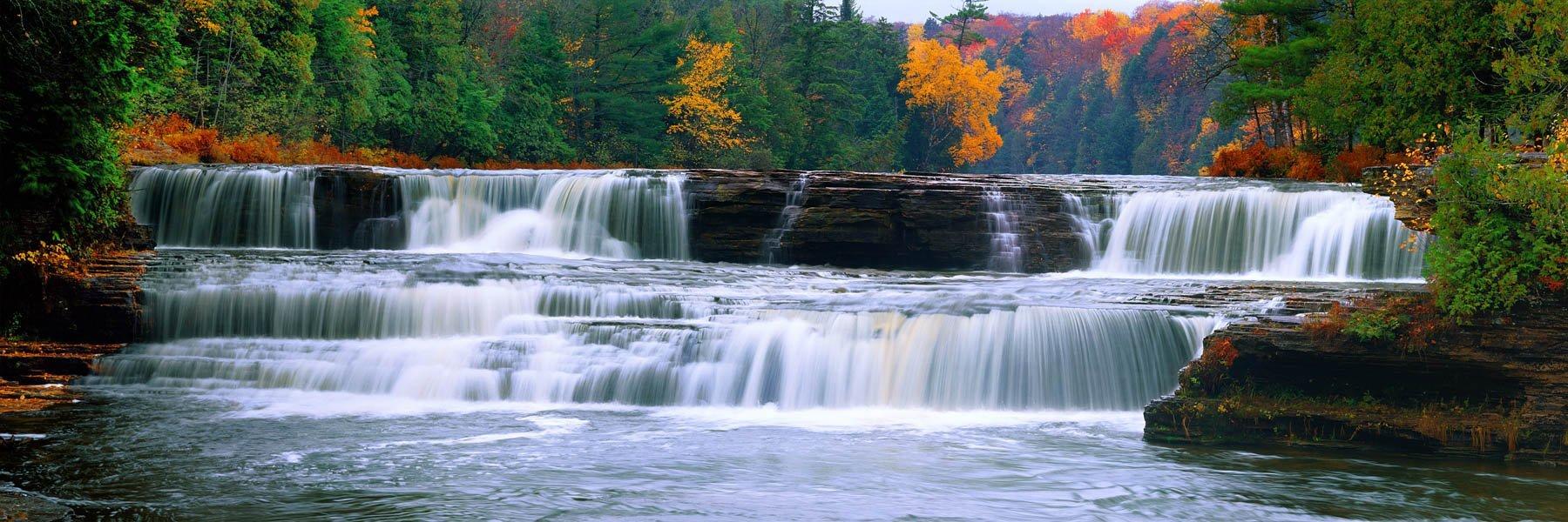 Lower Tahquamenon Falls in Michigan, USA.