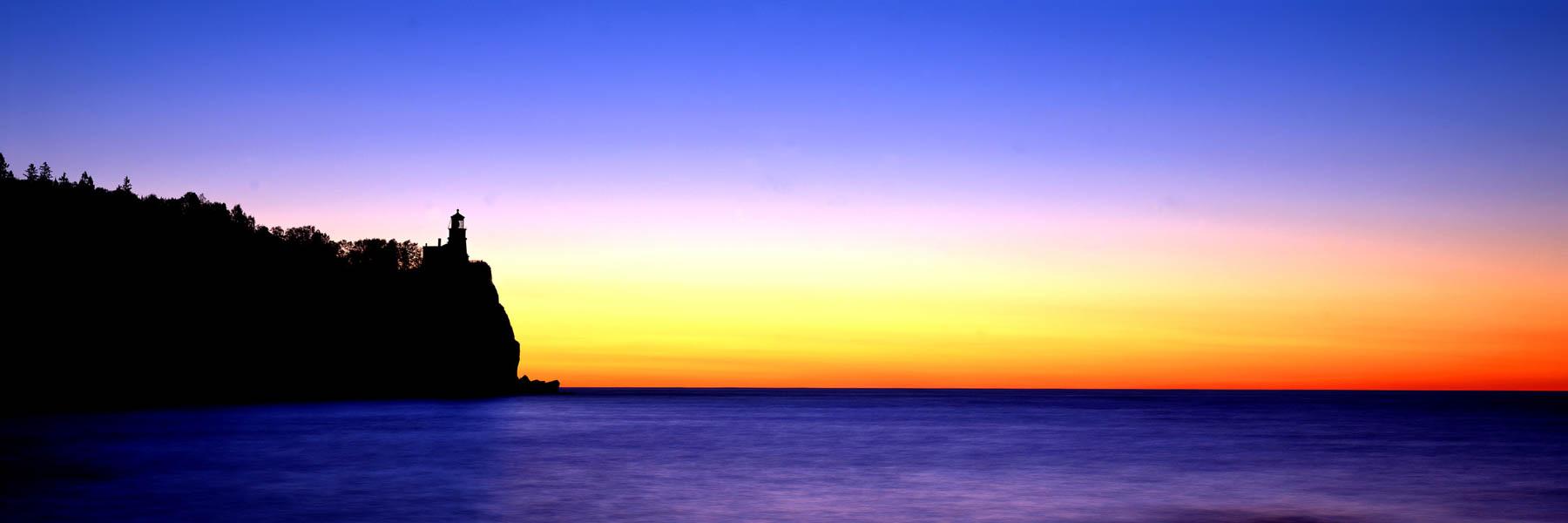 Splitrock Lighthouse, Maine, USA.