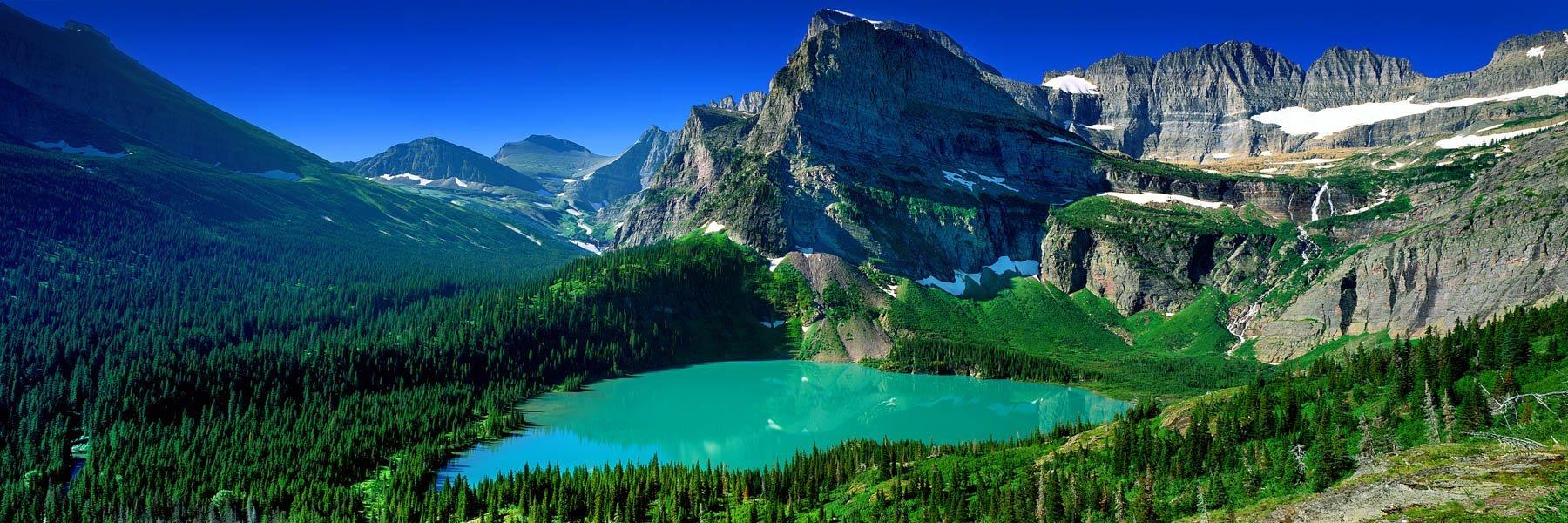 Glacier Lake, Montana, USA.