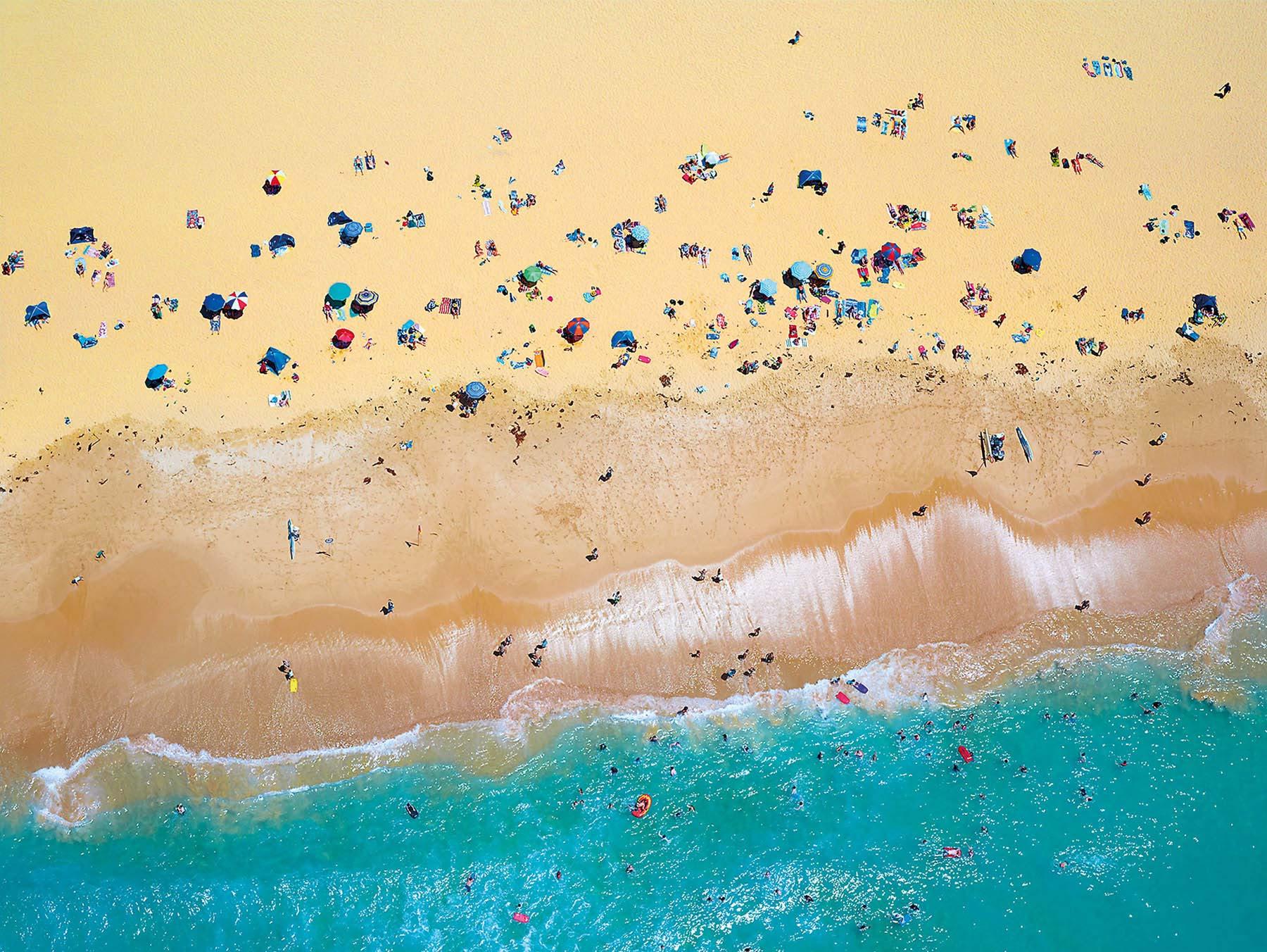People have fun at the beach, Toowoon Bay, NSW Australia.