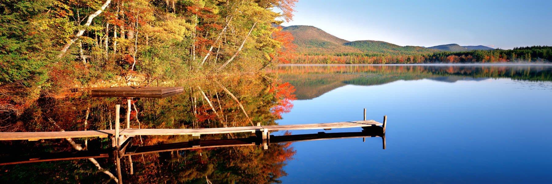 Perfect tranqujillity at Chocorua Lake, New Hampshire, USA.