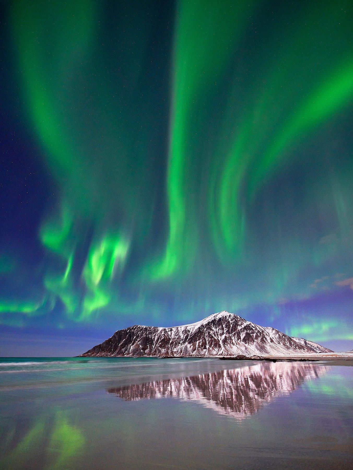 Aurora Borealis in Lofoten, Norway.