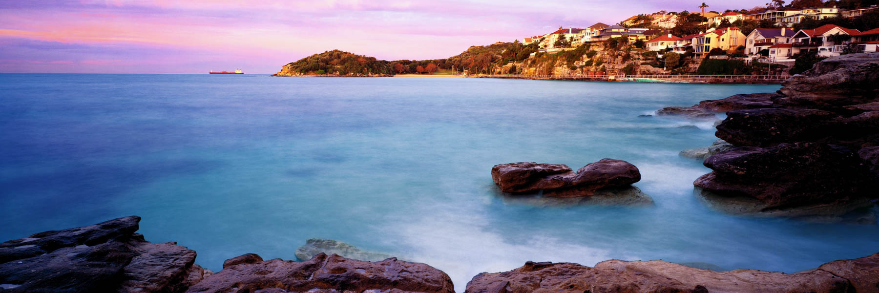 Sunrise over Cabbage Tree Bay, Sydney, NSW, Australia.