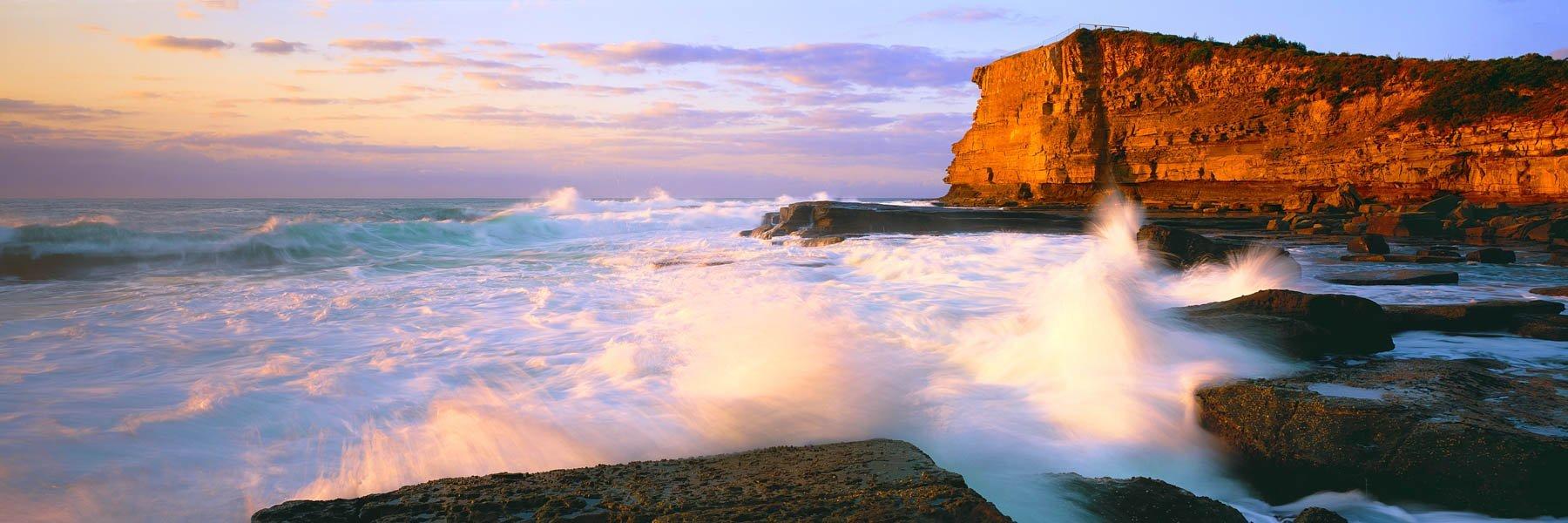 Sunrise over The Skillion, Central Coast, NSW, Australia.