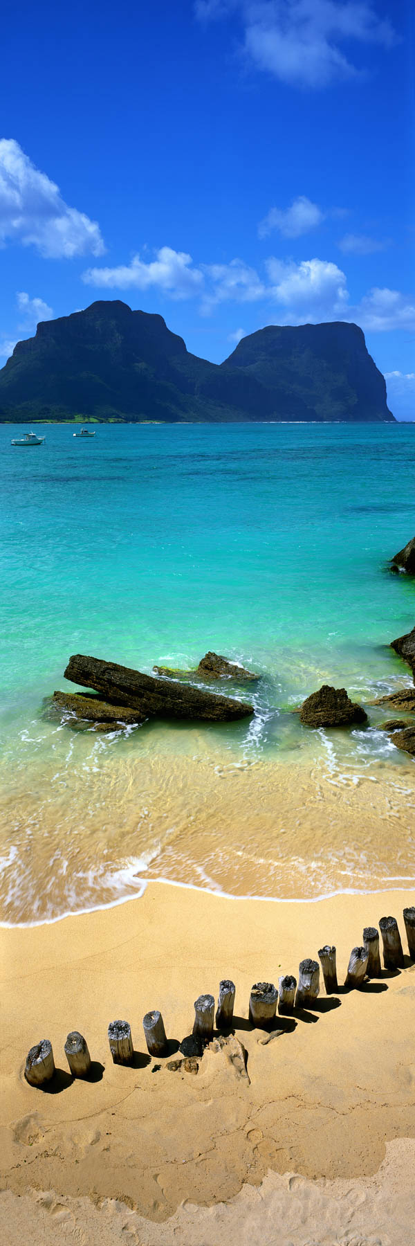 The tranquil, turquoise waters of Lord Howe Island, NSW, Australia.
