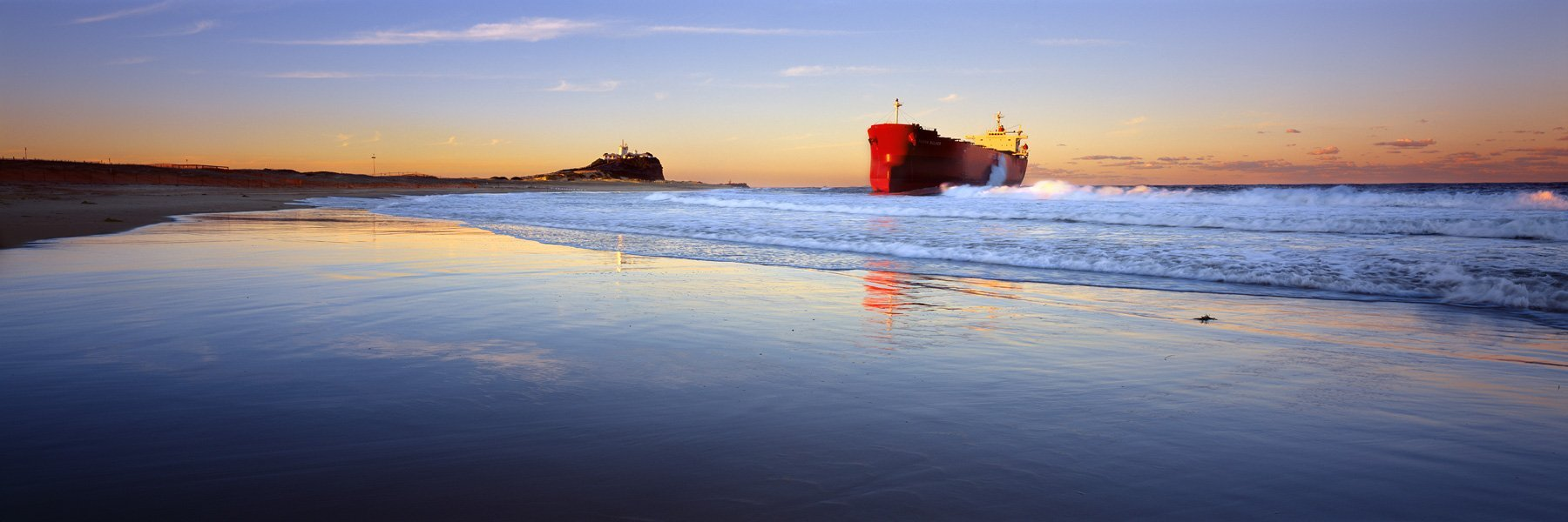 Pasha Bulker, Run Aground, Nobbys Beach, NSW