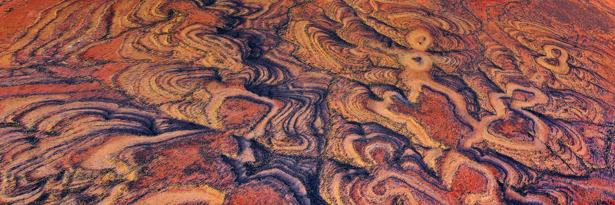 An aerial view of Running Man Rock, western Queensland, Australia.