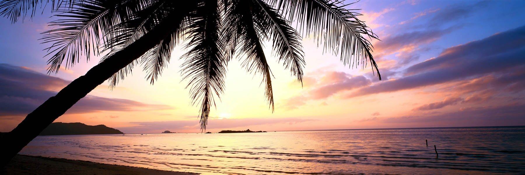 A golden sunrise over Chilli Beach, Cape York, Qld, Australia.