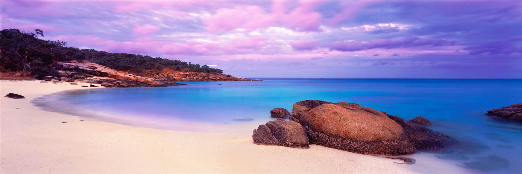 Pastel twilight over Lizard Island, Qld, Australia.