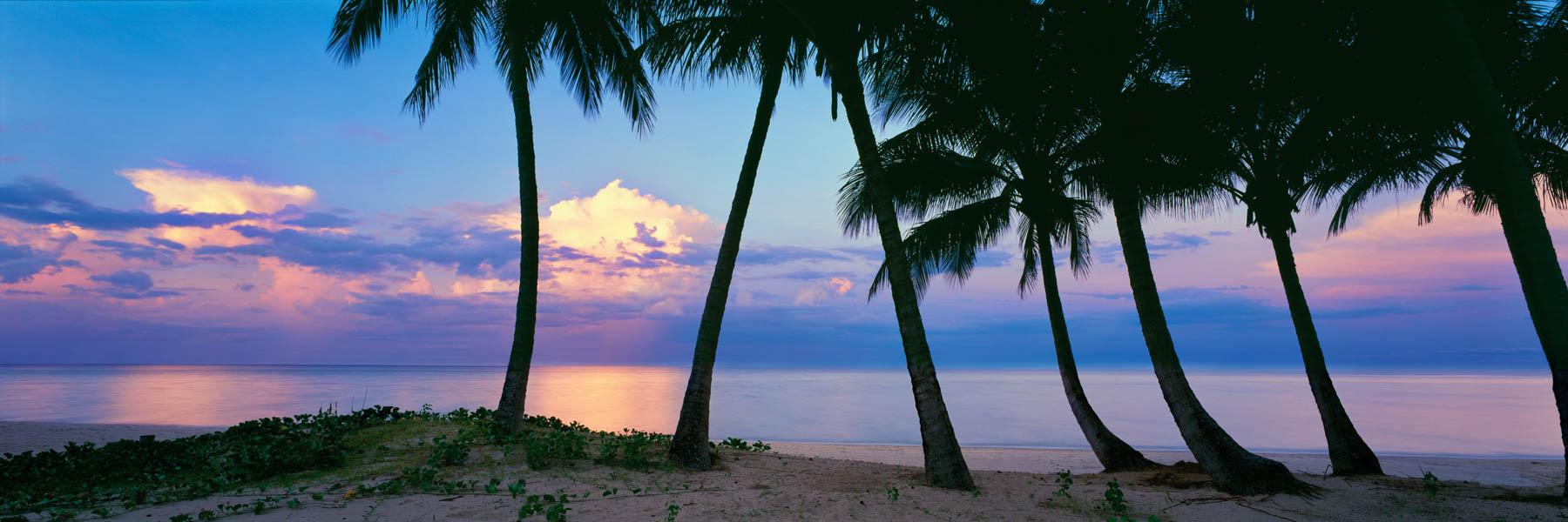 A pastel sunset over Ellis Beach, North Queensland, Australlia.