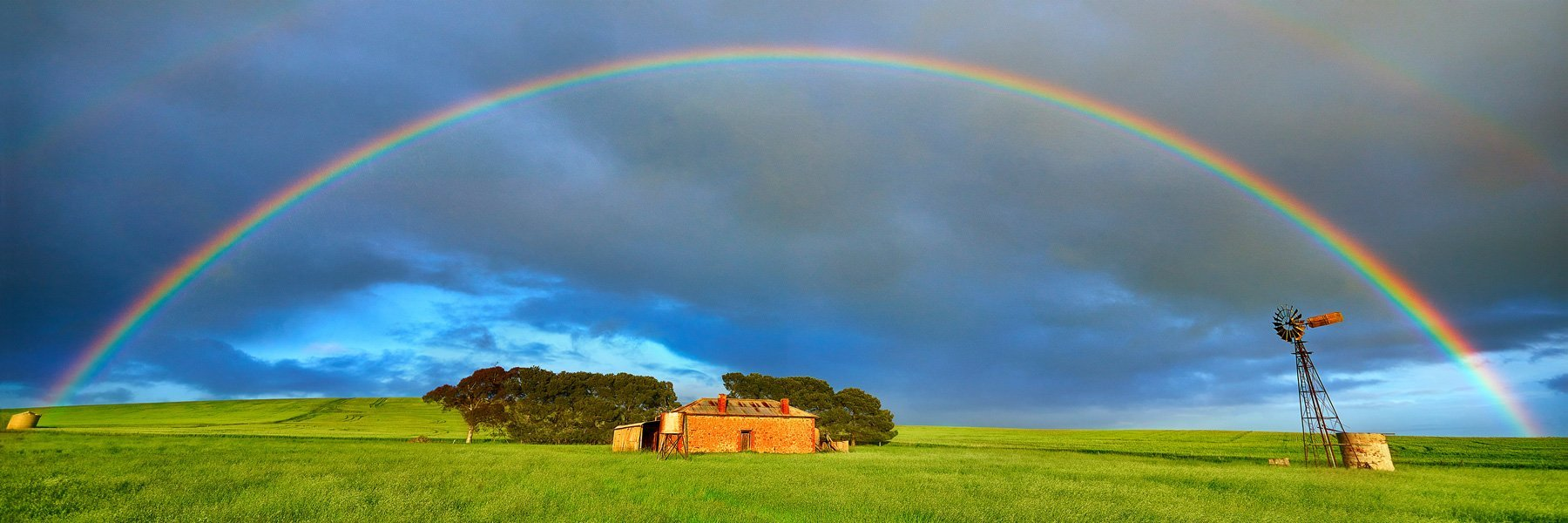 A beautiful rainbow after a storm, SA, Australia.