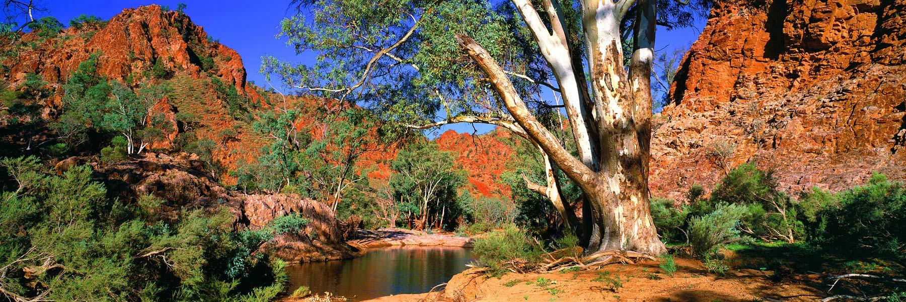 A beautiful day at Echo Camp Waterhole, Flinders Ranges, SA, Australia.