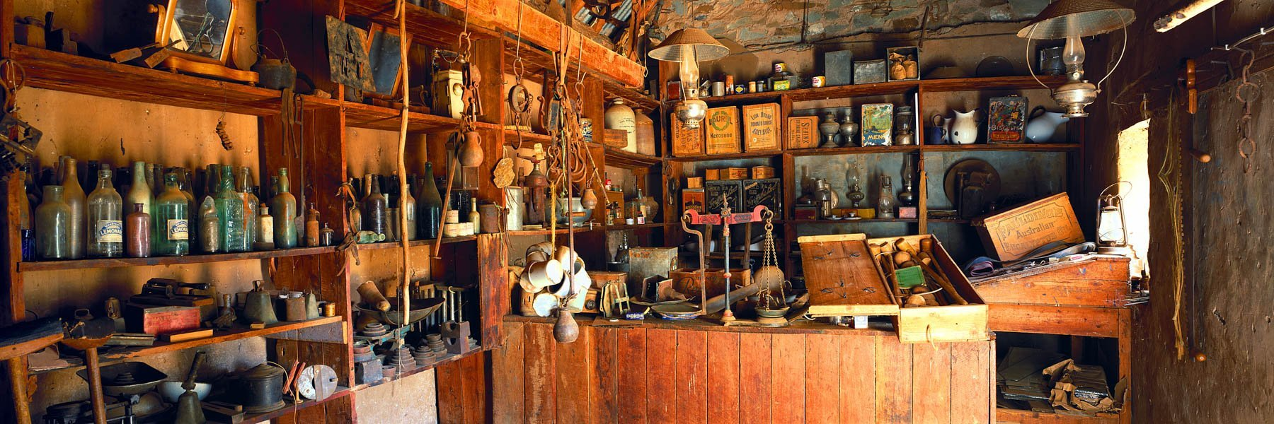 An eclectic collection of historical memorabilia in an old shed on a farm near The Flinders Ranges, SA, Australia.