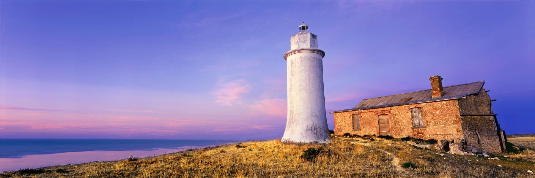 Point Malcolm lighthouse, Lake Alexandrina, SA, Australia.