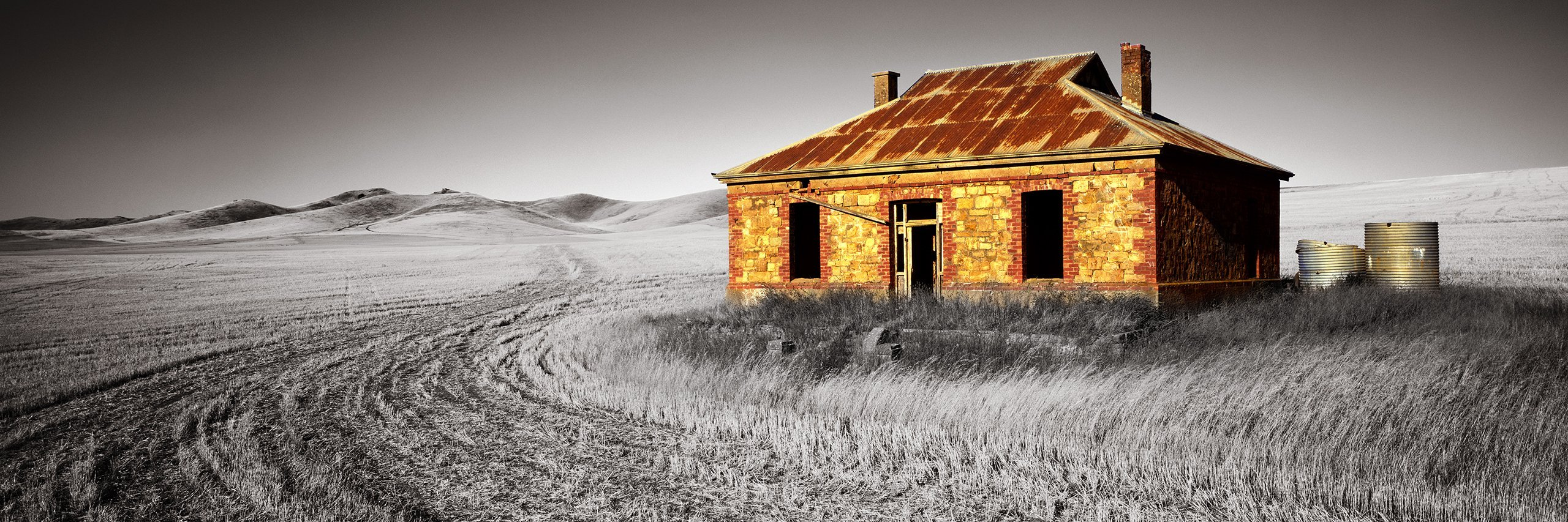 Digitally altered version of Burra hoimestead, SA, Australia.