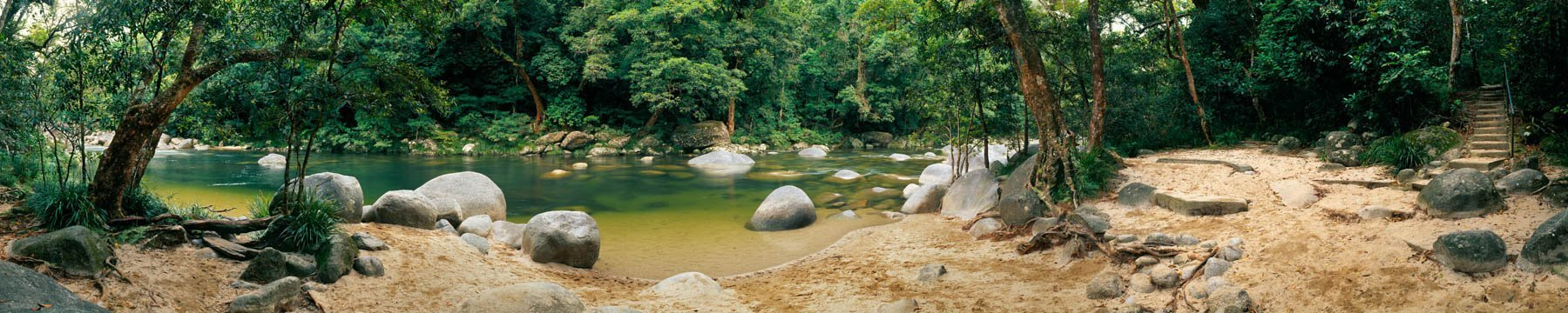 A refreshing swimming hole at Mossman Gorge, Qld, Australia.