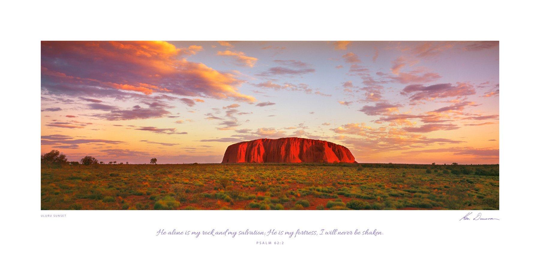 Uluru Sunset (Bible Verse)