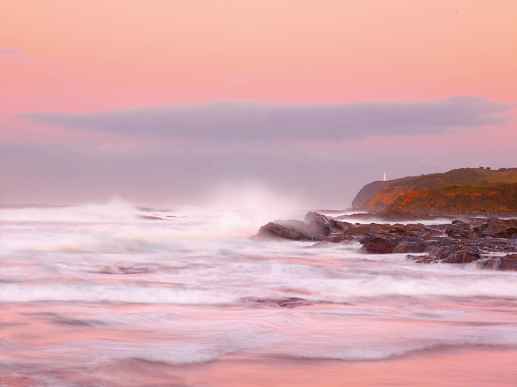 A pastel sunrise over Cape Otway, Victoria, Australia.