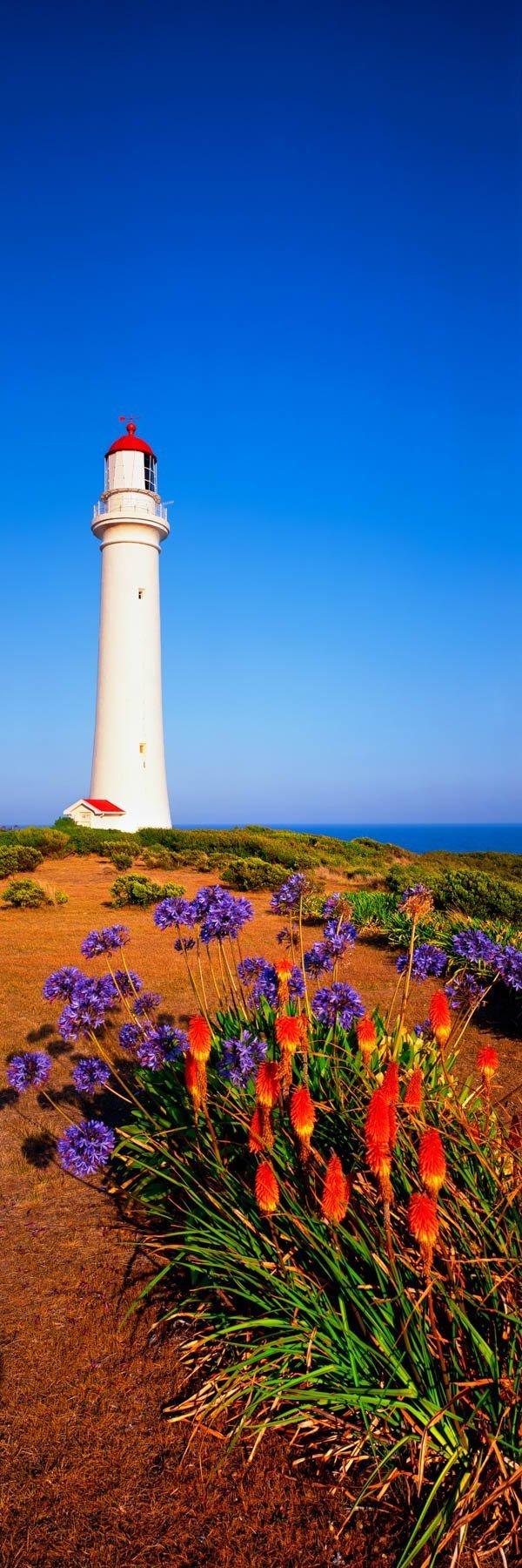 Vertical image of Split Point Lighthouse, Victoria, Australia.