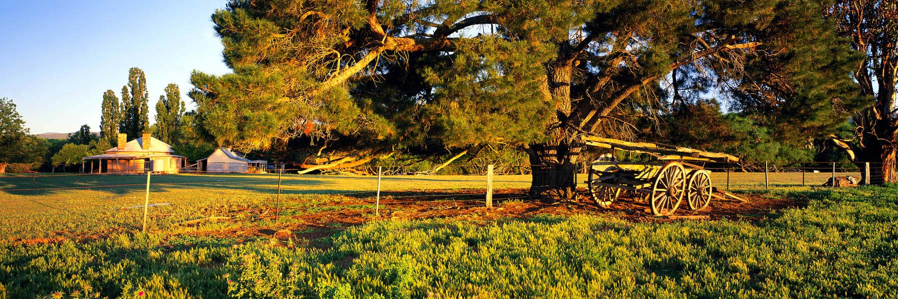 A welcoming country homestead in Benambra, Victoria, Australia.