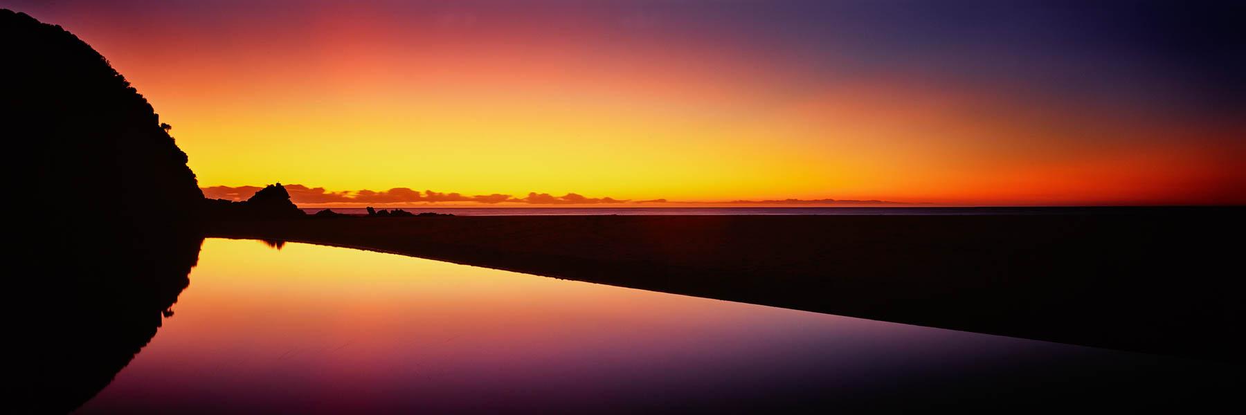 A glorious sunrise at Shipwreck Creek in Croajingalong National Park, Victoria, Australia.
