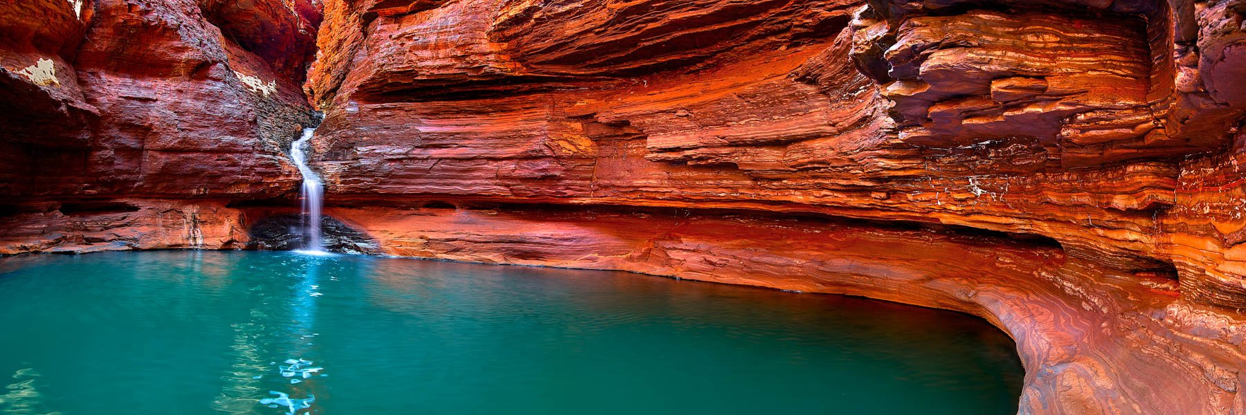 Swimming hole, Hancock Gorge in Karijini National Park, WA, Australia.