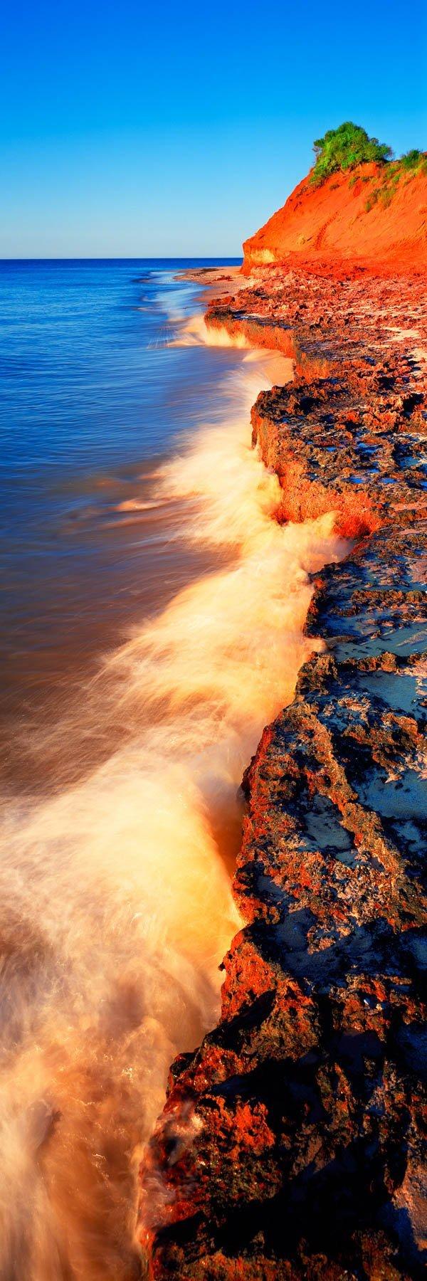 The red and white sands of Cape Peron, WA, Australia.