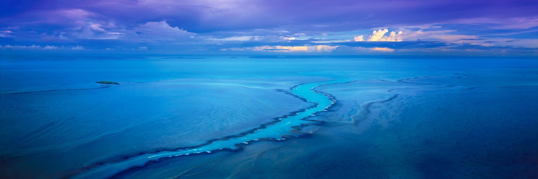Aerial view of Montgomery Reef, Kimberleys, WA, Australia.