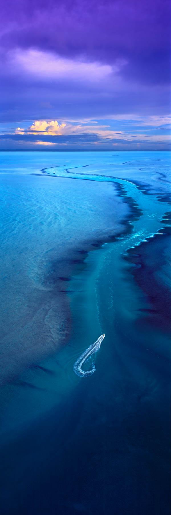 An aerial view of Montgomery Reef, Kimberleys, WA, Australia.