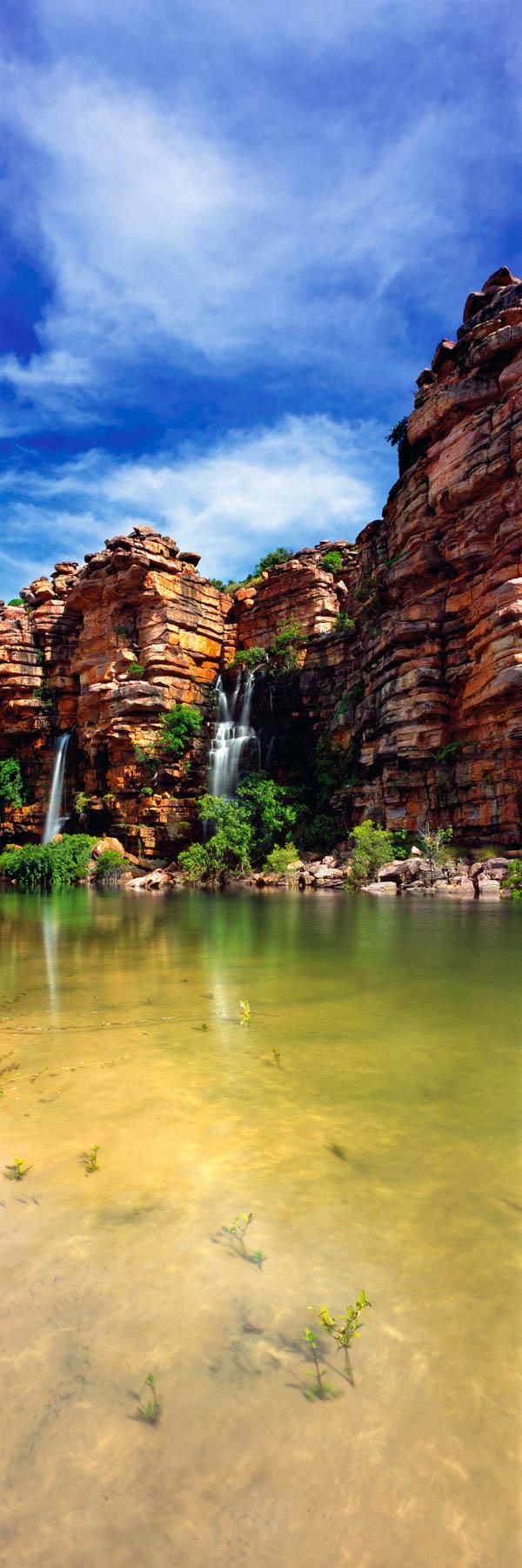 Tranquil Beach Falls, Kimberleys, WA, Australia.