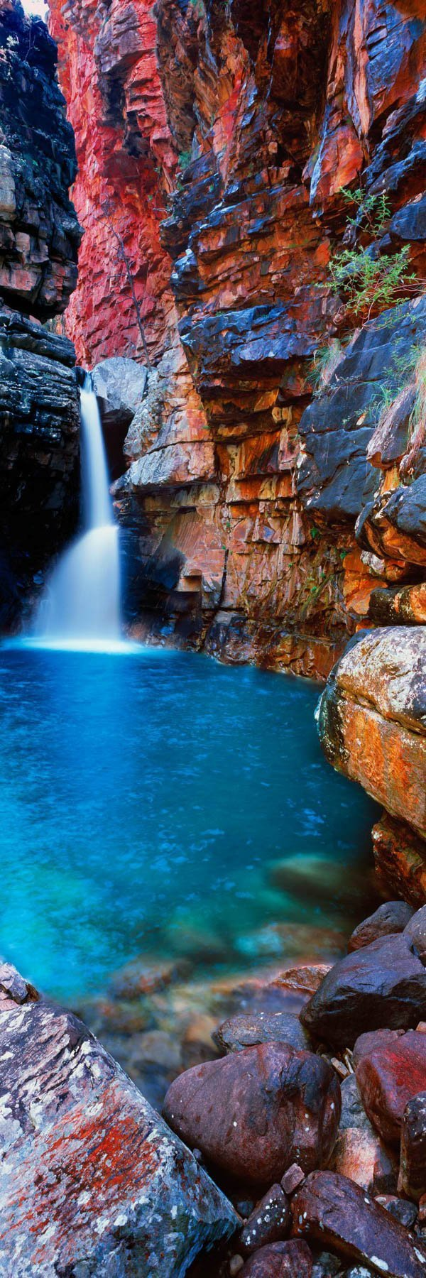 A hidden waterfall in the top end of WA, Australia.