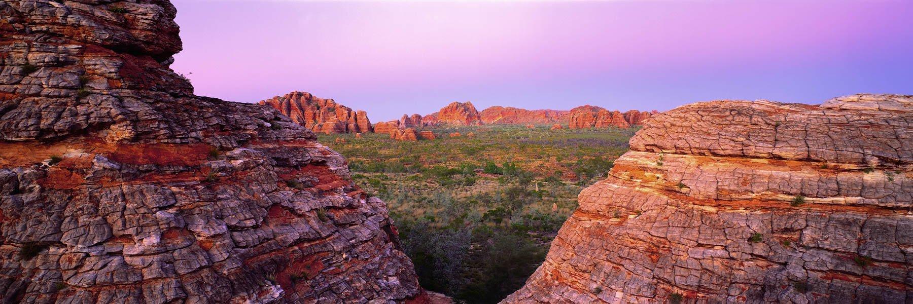 Twlight glow over the domes of The Bungle Bungles, Purnululu National Park, WA, Australia.