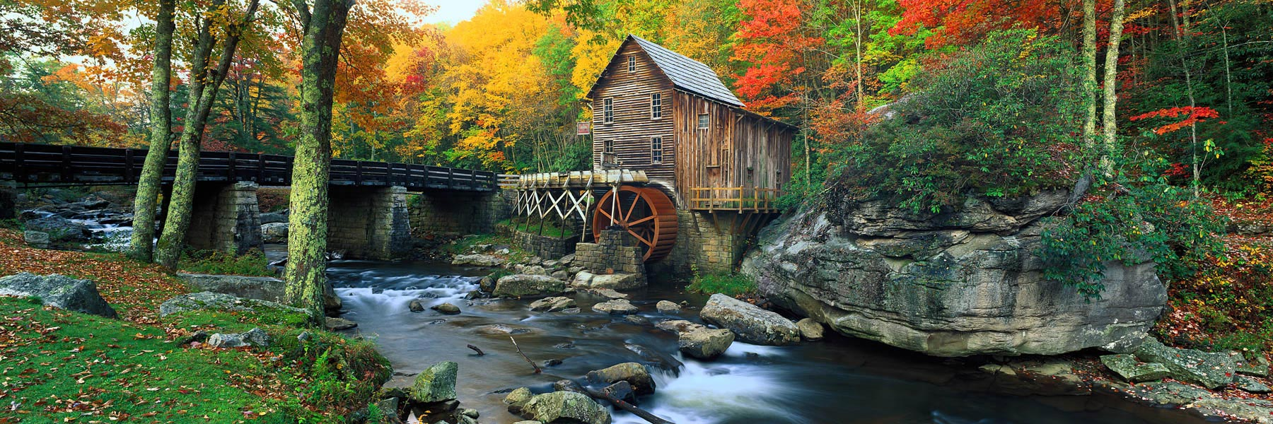 Glade Creek Grist Mill in West Virginia, USA.