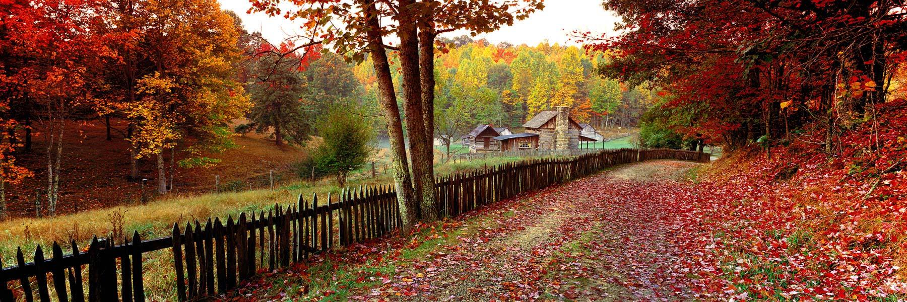 Autumn colours, Pioneer Farm, West Virginia, USA.