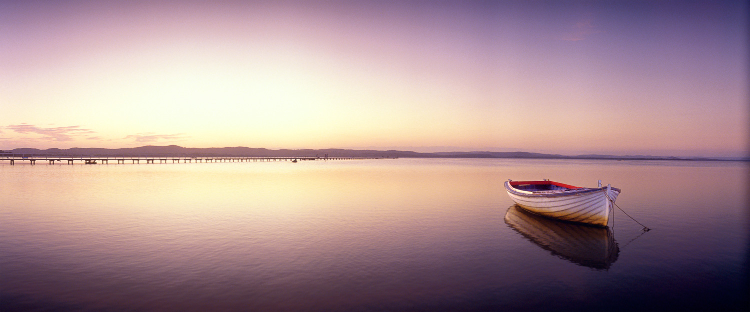 A peaceful sunset over Long Jetty, Central Coast, NSW, Australia.