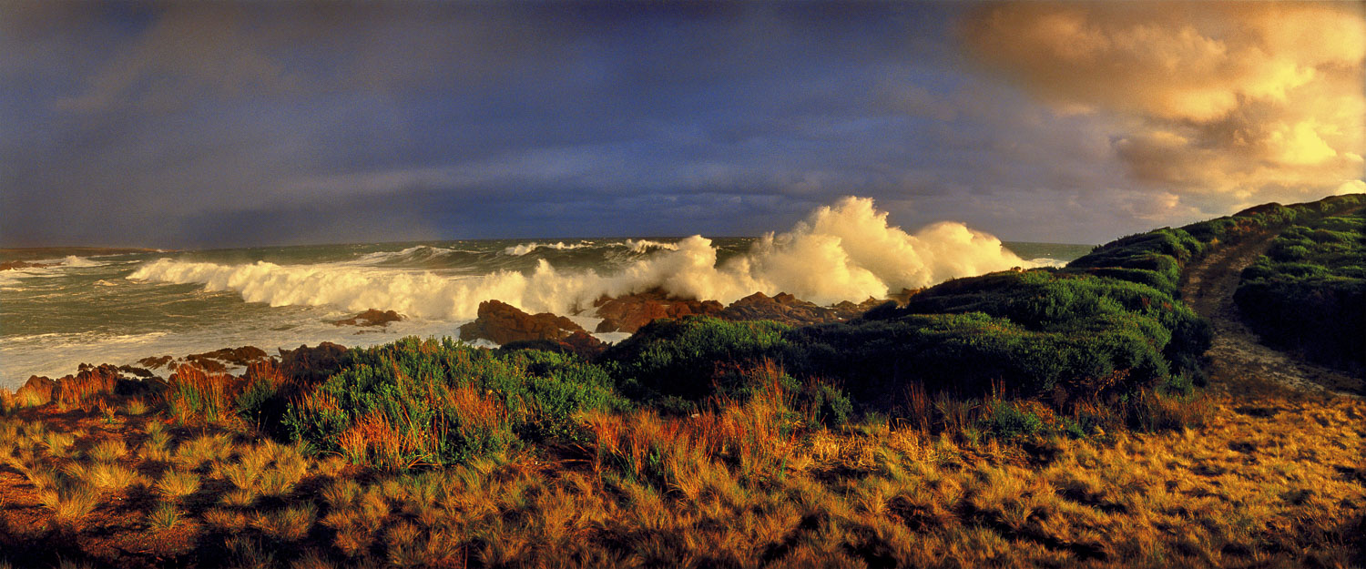 A wild and stormy afternoon at Cannonball, Granville Harbour, Tasmania, Australia.